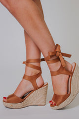 Elfonso Wedges ~ Tan - ShopBeYouBoutique