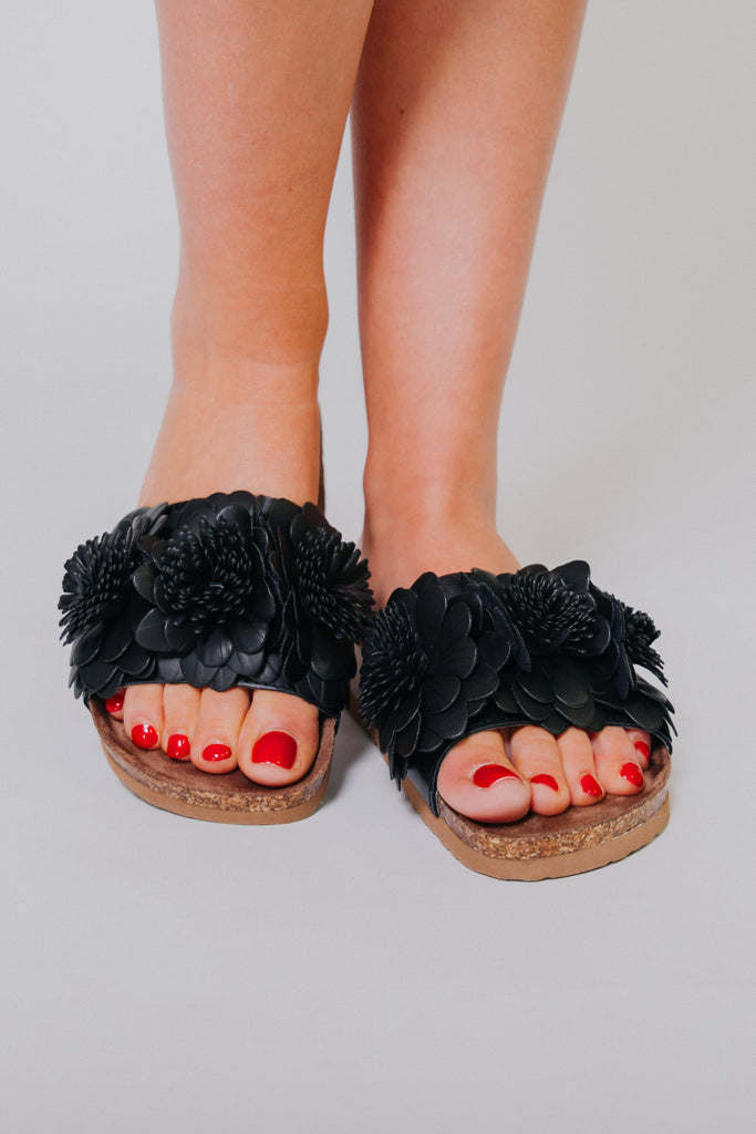 {LAST CHANCE} Not Rated Cinnamon Sandals ~ Black