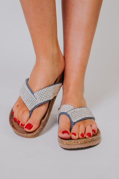 {Last Chance} Not Rated Bryce Sandals ~ Denim