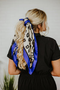 Spring Perfect Cheetah Scarf ~ Royal Blue