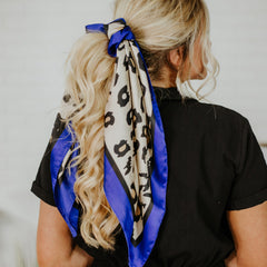 *New* Spring Perfect Cheetah Scarf ~ Royal Blue