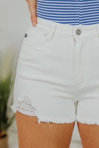 {Last Chance} Kancan Hazel High Rise Shorts ~ White