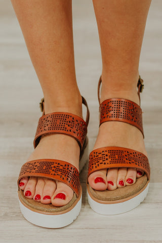 {Last Chance} Not Rated Anatalia Platform Sandals ~ Tan