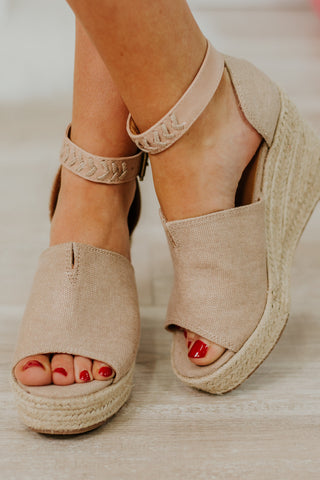 {Last Chance} Not Rated Leif Wedges ~ Rosegold