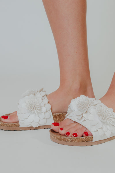 {LAST CHANCE} Not Rated Cinnamon Sandals ~ White