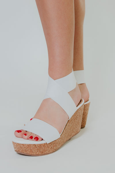 {Last Chance} Mandaya Wedges ~ White
