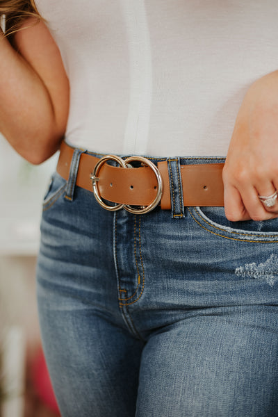 Bianca Leather Belt ~ Brown - Be You Boutique