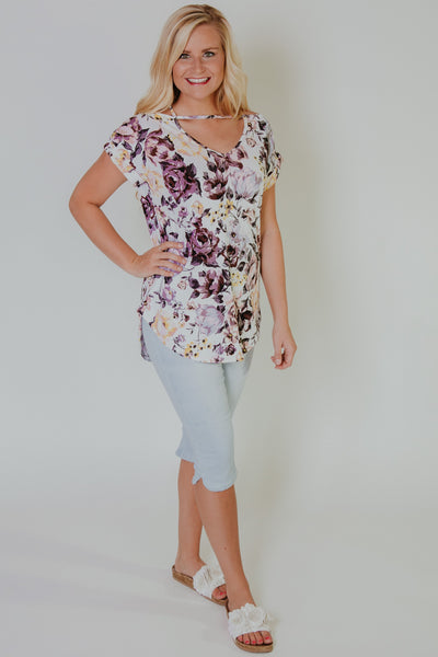 {Last Chance} Blissfully Happy Top ~ Ivory