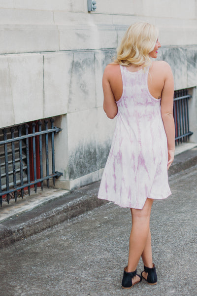 {LAST CHANCE} Z Supply Tie Dye Dress ~ Mauve Mist