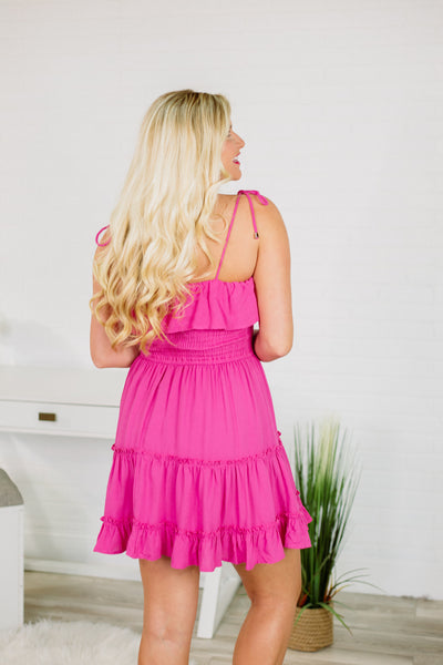 {Last Chance} Isabelle Smocked Dress ~ Fuchsia *FINAL SALE* - Be You Boutique