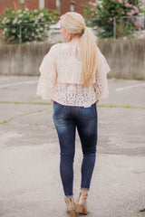 *NEW* Jackie Lace Top ~ Beige