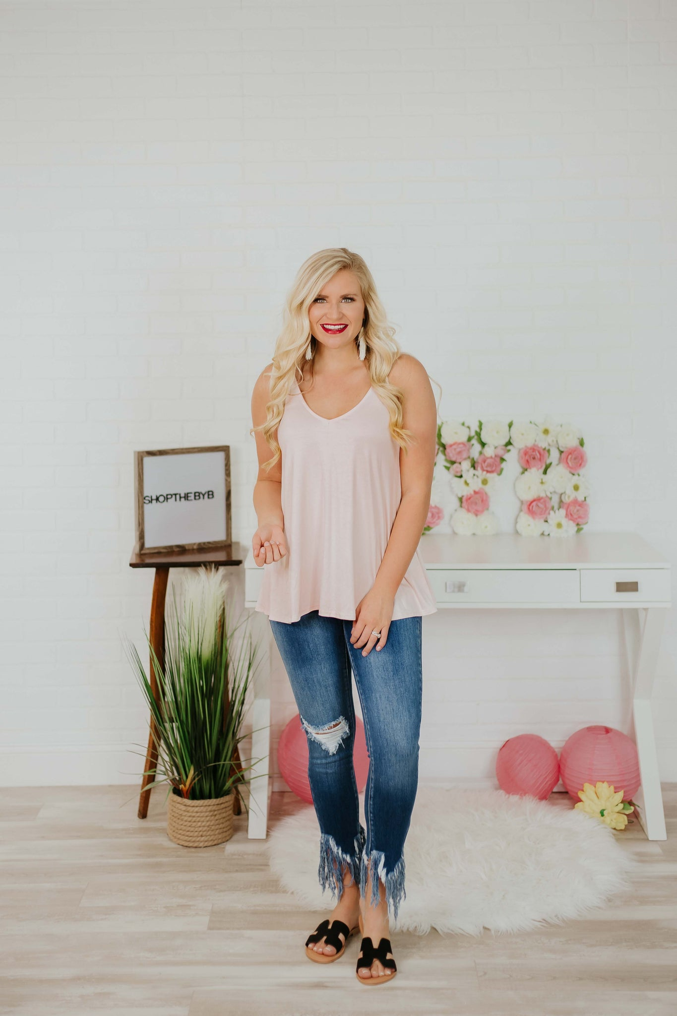 {Last Chance} Layer Me Tank ~ Blush