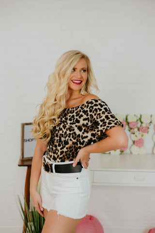 *New* Delilah Ruffled Bodysuit ~ Leopard