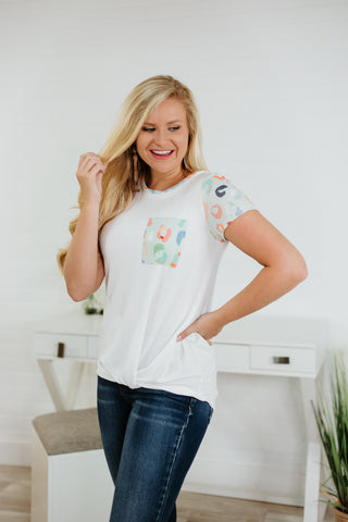 {Last Chance} Brynlee Short Sleeve Top ~ Mint