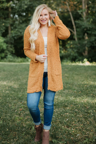 {Last Chance} Listicle Poppy Soft Cardigan ~ Golden Mustard *FINAL SALE* - Be You Boutique