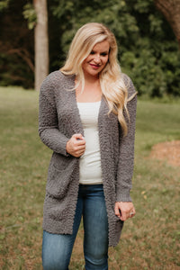 *NEW* Listicle Poppy Soft Cardigan ~ Charcoal - ShopBeYouBoutique