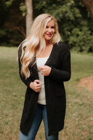 *NEW* Listicle Poppy Soft Cardigan ~ Black