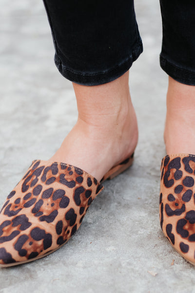 *New* Lucy Leopard Slides Flats ~ Leopard - ShopBeYouBoutique
