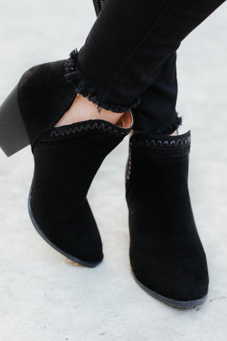 *NEW* Prenton Suede Booties ~ Black - ShopBeYouBoutique