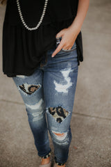 *New* Holly Leopard Skinny Jeans ~ KanCan