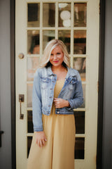 *NEW* Alexa Blue Jean Jacket by Kancan ~ Light Wash