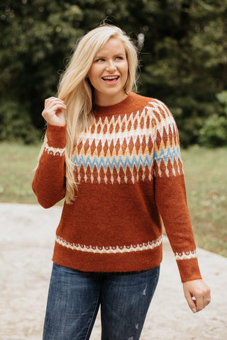 *NEW* Cheyenne Argyle Sweater ~ Burgundy