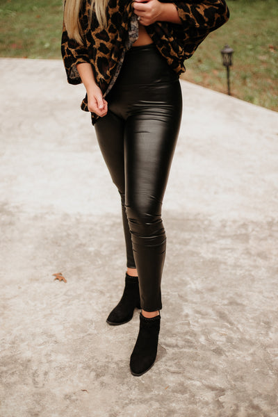 *NEW* Lani High Waisted Lined Vegan Leather Leggings ~ Black - ShopBeYouBoutique