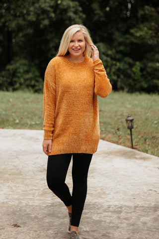 *NEW* Myla Long Sleeve Chenille Sweater ~ Desert Mustard