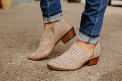 Anouk Bootie in Taupe ~ Not Rated