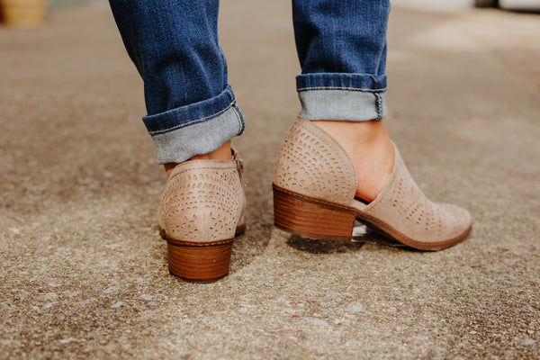 {Last Chance} Anouk Bootie in Taupe ~ Not Rated