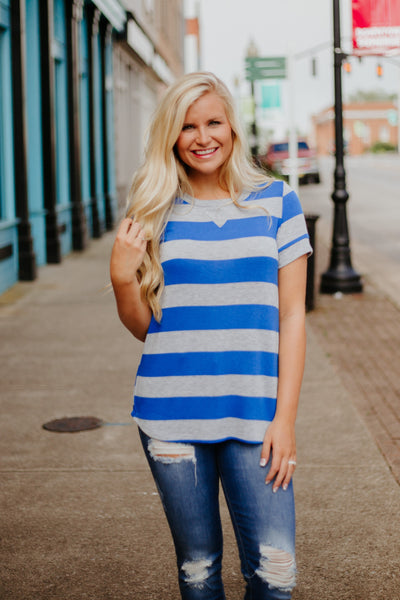 *NEW* Oh My Stripes Tee ~ Royal