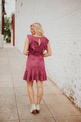 Berry Be Mine Suede Dress ~ Berry
