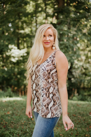 *NEW* Ruth Animal Print Cami Top ~ Taupe