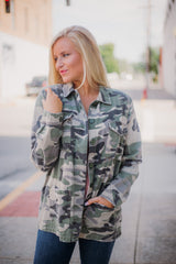 *NEW* Camo Army Jacket ~ Olive