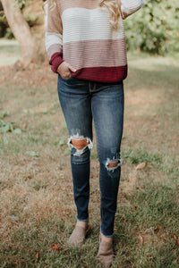 Kancan Hope Dark Wash Distressed Skinny Jeans - Be You Boutique