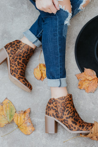 {Last Chance} Corkys IKE Ankle Bootie ~ Leopard *FINAL SALE* - Be You Boutique
