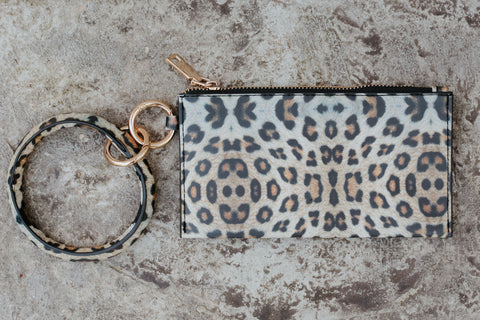 *New* On The Go Key Chain Clutch ~ Leopard