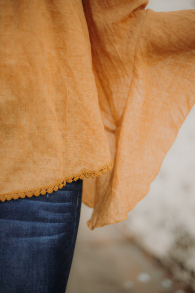 {LAST CHANCE} Melanie Off Shoulder Top ~ Mustard