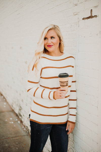 *NEW* Camel Striped Sweater ~ Camel