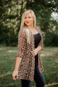 Crazy Train Kitty Kitty Bang Bang Kimono ~ Animal Print