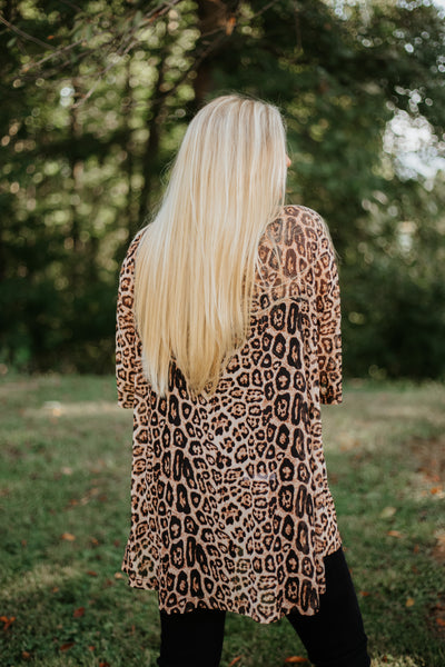 {Last Chance} Crazy Train Kitty Kitty Bang Bang Kimono ~ Animal Print *FINAL SALE* - Be You Boutique