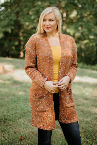 {Last Chance} Ginger Nae Cardigan ~ Rust *FINAL SALE* - Be You Boutique