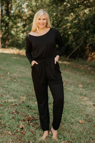 *NEW* Elliana Long Sleeve Romper ~ Black - ShopBeYouBoutique