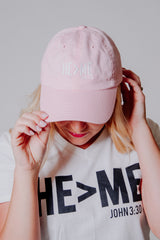 He > Me Hat ~ Pink - ShopBeYouBoutique