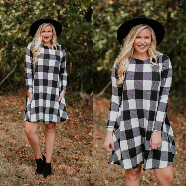 *NEW* Buffalo Swing Dress ~ Off White - ShopBeYouBoutique