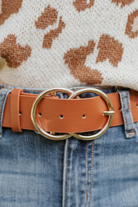 Bianca Vegan Leather Belt ~ Brown