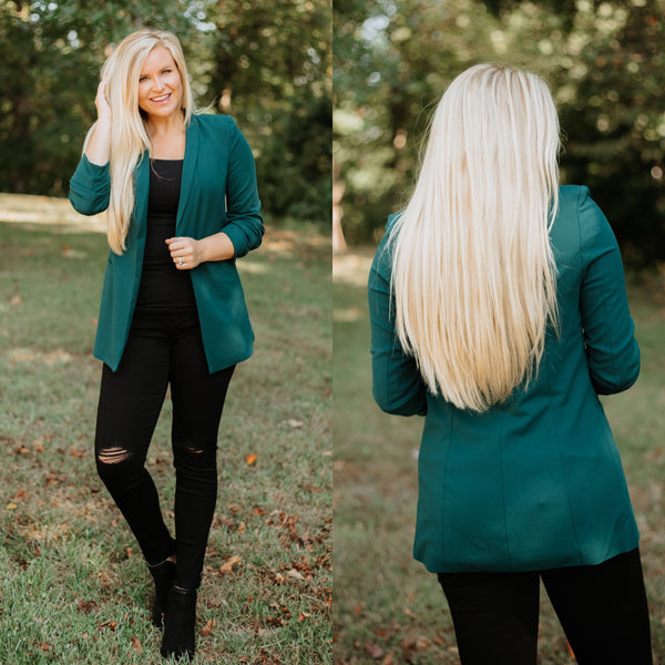 *NEW* Waldorf Blazer ~ Green - ShopBeYouBoutique