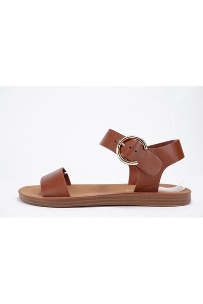 *NEW* Compel Buckle Strap Sandal ~ Tan