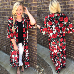 Queen Of Hearts *Red Rose* Duster ~ Crazy Train