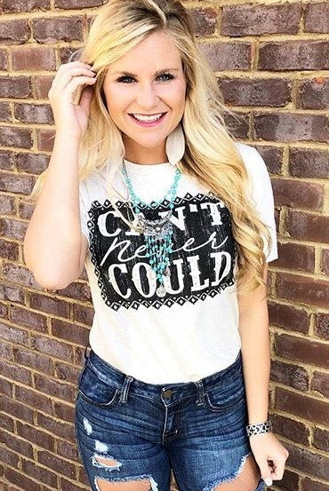 Can't Never Could Graphic Tee in Black ~ Crazy Train